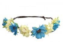 Couronne de fleurs fines hippie