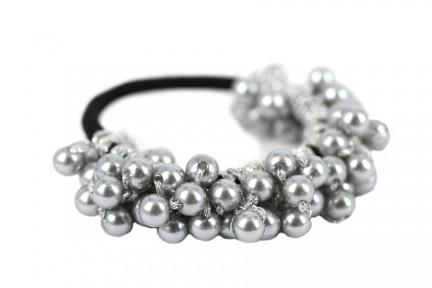 élastique cheveux métal argent