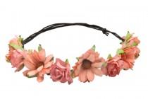 Couronne de fleurs des îles en tissu pour mariage