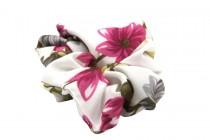 Elastique chouchou avec fleur pour cheveux