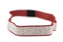 Headband glitter rouge