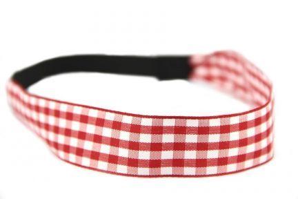 Bandeau cheveux Vichy rouge