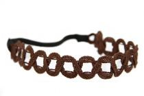 Headband marron Chic