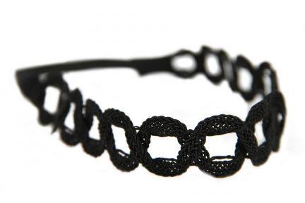 Headband cheveux noir