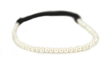 Headband Perles blanches