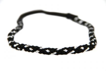 Headband torsade argent