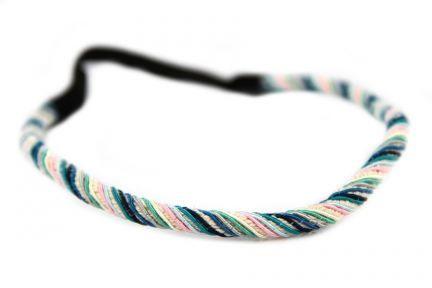 Headband torsade Bleu