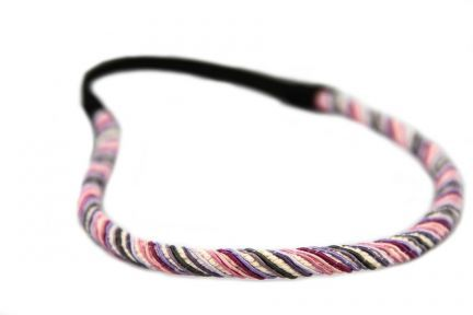 Headband torsade Rose