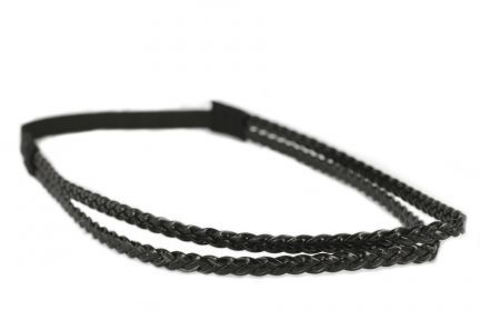 Headband double tresse noir