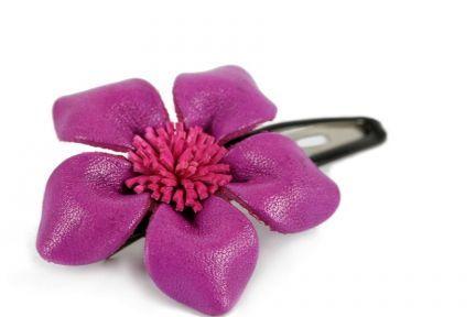 Accessoires cheveux violet pour coiffure