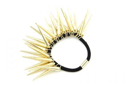 Elastique cheveux métal doré