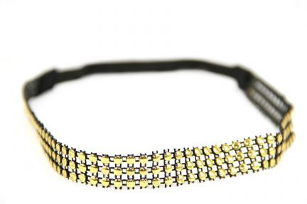 Headband strass d'Or
