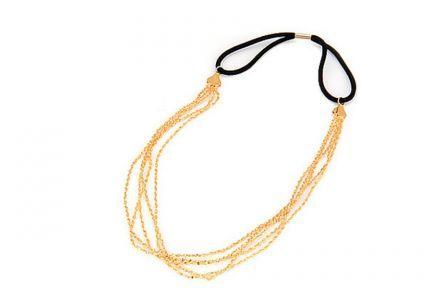Headband chaîne doré