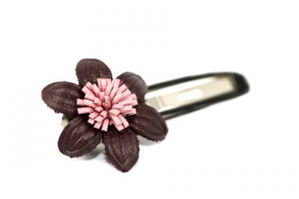 Barrette cheveux marron