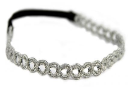 Headband couleur argent chic
