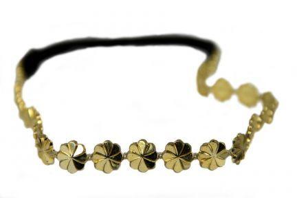 Headband fleurs dorées