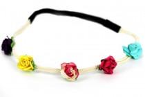 Bandeau fleurs hippie