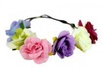 Couronne de fleurs bohème