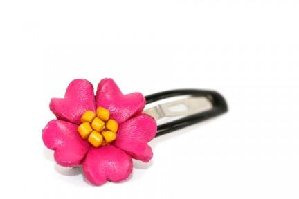 Barrette cheveux de fleur frangipanier