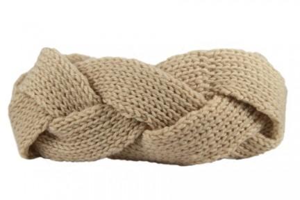 Bandeau turban maille laine