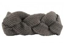 Bandeau cheveux tricot torsadé