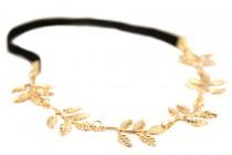 Headband métal doré en plumes
