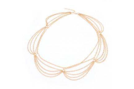Headband bandeau doré pour cheveux