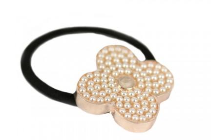 Bague fleur de perles