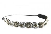 Headband bijou noir brillant