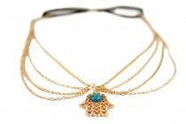 Headband avec chaîne doré et pendentif