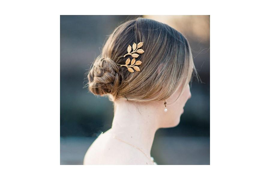 dessins attrayants nouveau sélection la clientèle d'abord Pince cheveux feuille d'or