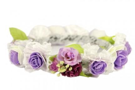 Couronne de fleurs artificielles bohème
