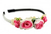 Couronne cheveux bijoux en fleurs