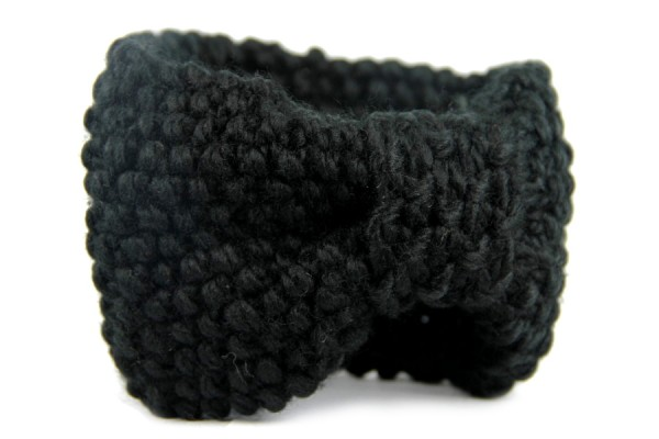 Bandeau en laine Ebène