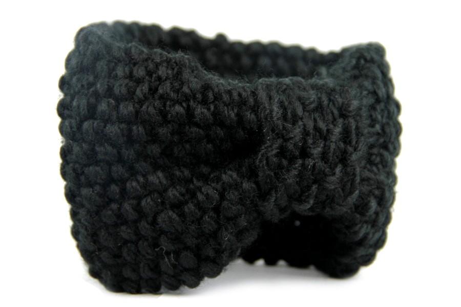 bandeau en laine noir pas cher. Black Bedroom Furniture Sets. Home Design Ideas