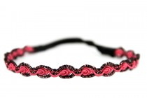 Headband rose fushia