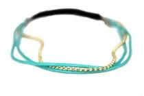 Headband bijou turquoise
