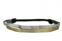 Headband double strass