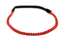 Headband perles rouges