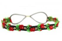 Headband effet fleurs fraîches