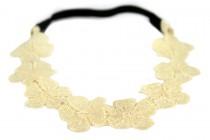 Headband fleurs ivoire mariage