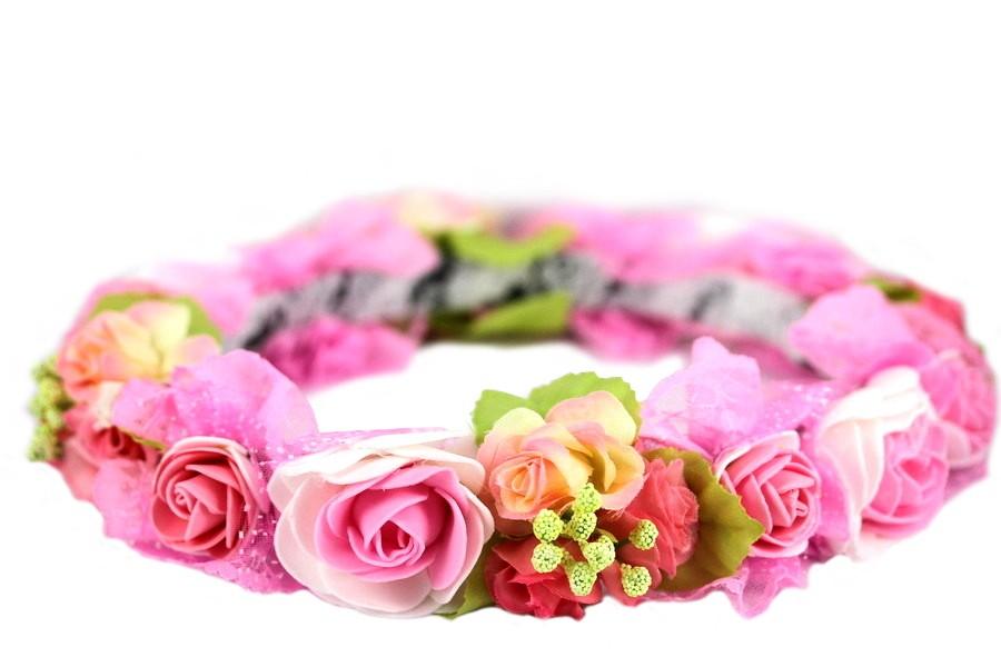 Couronne de grosses fleurs fra ches for Fleurs fraiches