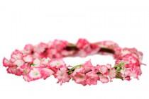 Couronne de fleurs des îles en tissu