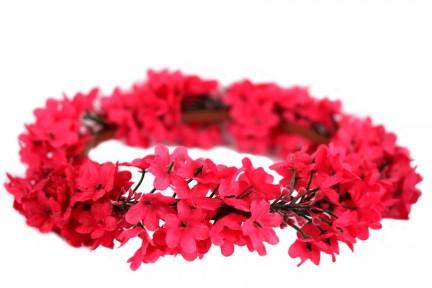 Couronne de fleurs romantique