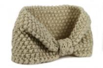 Bandeau en laine tricoté main