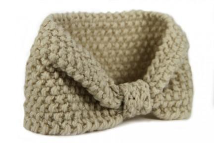 Bandeau en laine Ecrue
