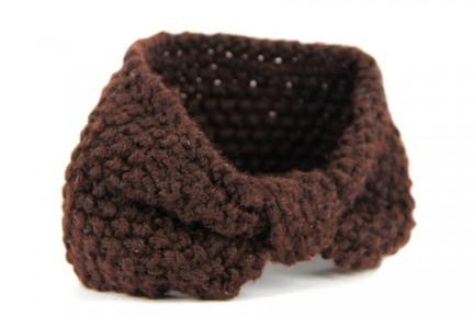 Bandeau en laine Chocolat