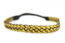 Headband cheveux bronze