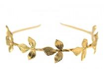 Serre tête feuilles laurier dorées