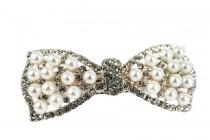 Barrettes nœud en perles